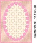 oval vector heart border with...   Shutterstock .eps vector #45540358