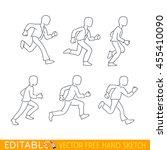phases of run  state for... | Shutterstock .eps vector #455410090