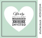 invitation and save the date... | Shutterstock .eps vector #455410144