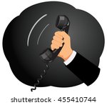 businessman hand is holding a...