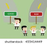 think different.business... | Shutterstock .eps vector #455414449