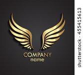 3d Wings Gold Logo   Vector...
