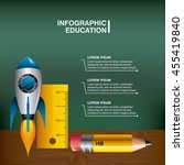 infographic education concept... | Shutterstock .eps vector #455419840