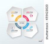 abstract 3d digital... | Shutterstock .eps vector #455423020