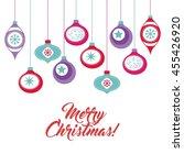 merry christmas concept... | Shutterstock .eps vector #455426920