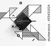 trendy geometric flat pattern ... | Shutterstock .eps vector #455431024