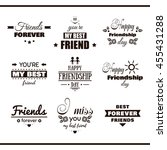 collection of monochrome labels ... | Shutterstock .eps vector #455431288