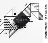 trendy geometric flat pattern ... | Shutterstock .eps vector #455431528