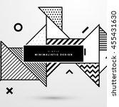 trendy geometric flat pattern ... | Shutterstock .eps vector #455431630