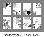 annual report brochure template ... | Shutterstock .eps vector #455431648