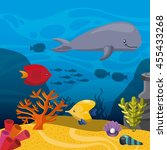sea life concept represented by ... | Shutterstock .eps vector #455433268