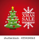 merry christmas concept... | Shutterstock .eps vector #455434063