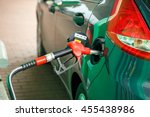 car refueling on a petrol... | Shutterstock . vector #455438986