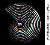 2017 calendar template  spiral... | Shutterstock .eps vector #455441950