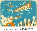 country music festival...   Shutterstock .eps vector #455442028