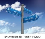 directional sign series  yes no ... | Shutterstock . vector #455444200