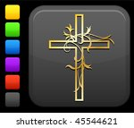 Golden Cross With Floral...