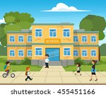 school building. vector... | Shutterstock .eps vector #455451166