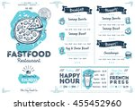 fast food menu design and fast... | Shutterstock .eps vector #455452960