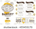 bakery menu design and bakery... | Shutterstock .eps vector #455453170