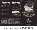 fast food menu cover layout... | Shutterstock .eps vector #455453794