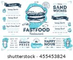 Fast Food Restaurant Menu...