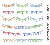 set of hand drawn buntings... | Shutterstock .eps vector #455461546