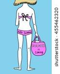 vector illustration   woman... | Shutterstock .eps vector #455462320