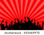 concert crowd with light rays | Shutterstock . vector #455469970