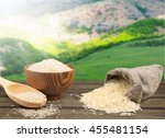 rice on natural background. | Shutterstock . vector #455481154