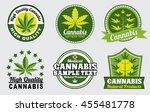 medical marijuana   cannabis... | Shutterstock .eps vector #455481778