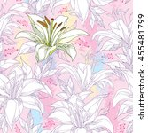 seamless pattern with ornate... | Shutterstock .eps vector #455481799