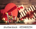 photo of the cart for shopping... | Shutterstock . vector #455483254