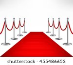 red event carpet and silvery... | Shutterstock .eps vector #455486653