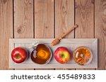 jewish holiday rosh hashana... | Shutterstock . vector #455489833