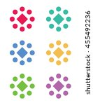 a collection of vector shape... | Shutterstock .eps vector #455492236
