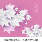 autumn leaves soft color... | Shutterstock .eps vector #455499850