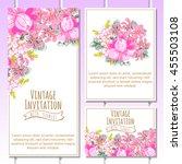 romantic invitation. wedding ...   Shutterstock . vector #455503108
