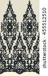 seamless vector black lace... | Shutterstock .eps vector #455512510