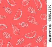 tropical summer print for t... | Shutterstock .eps vector #455518390