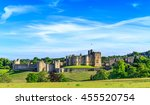 alnwick castle  a castle and... | Shutterstock . vector #455520754