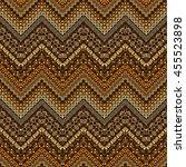 vector african style chevron... | Shutterstock .eps vector #455523898