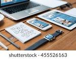 business  responsive design and ...   Shutterstock . vector #455526163