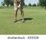 golfer putting | Shutterstock . vector #455528