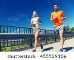 fitness  sport  friendship and... | Shutterstock . vector #455529106