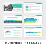 colored presentations templates ... | Shutterstock .eps vector #455531518