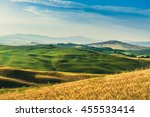 landscape tuscany in summer | Shutterstock . vector #455533414