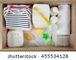 baby accessories for hygiene in ... | Shutterstock . vector #455534128