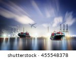 logistics and transportation... | Shutterstock . vector #455548378