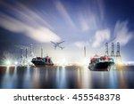 logistics and transportation... | Shutterstock . vector #455548378